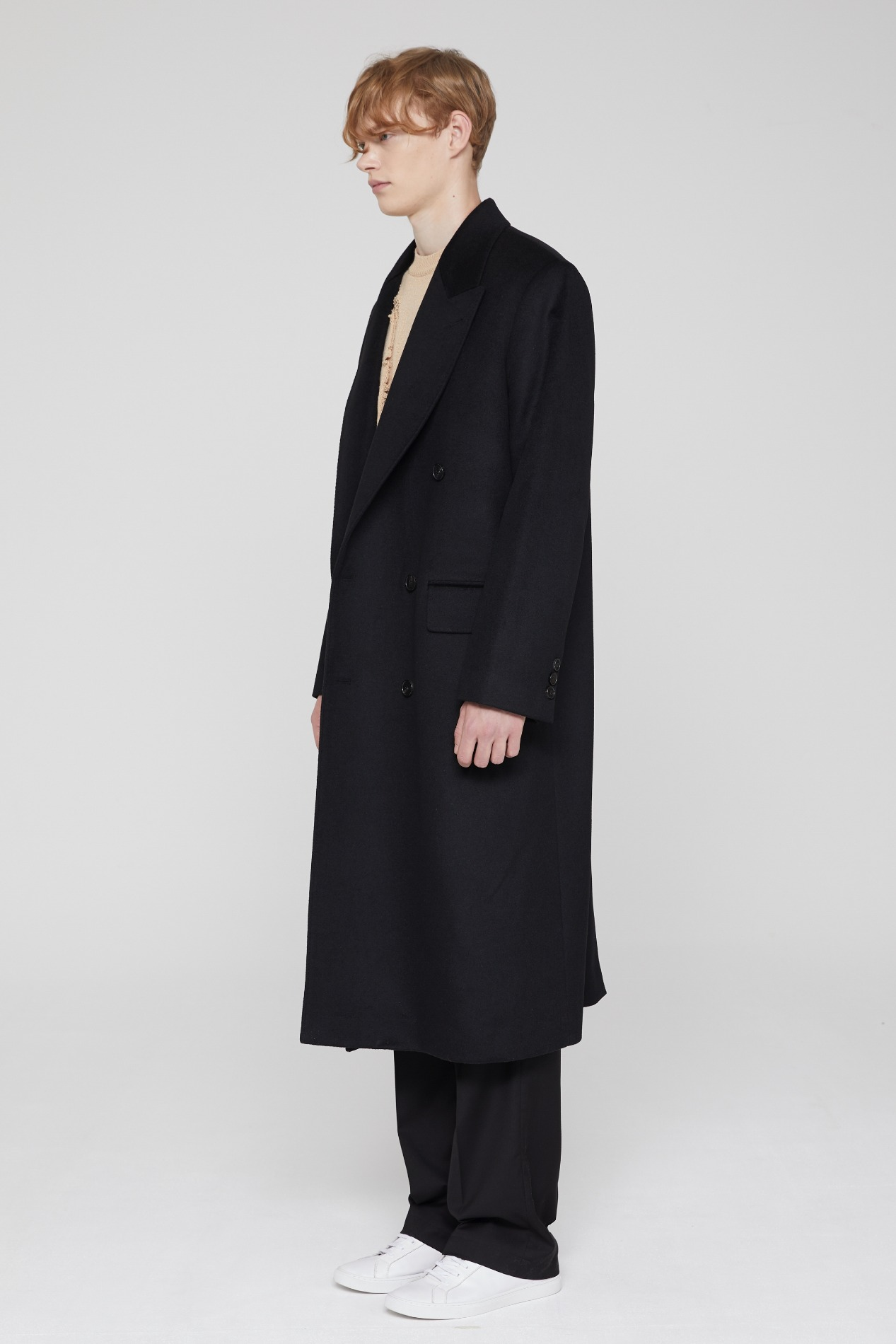 CASHMERE MAXI COAT (BLACK)