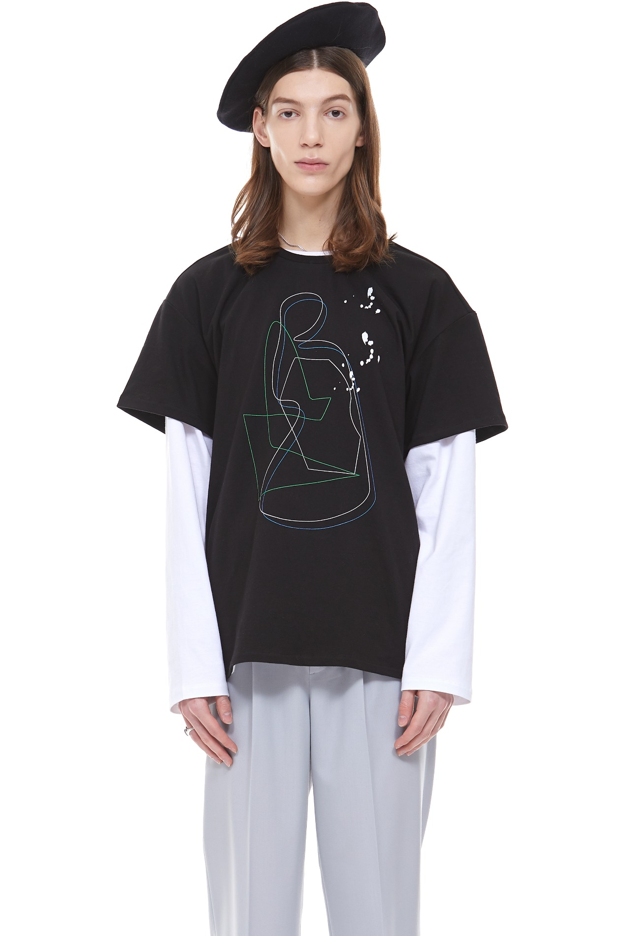 PAINTING ARCHIVE011 T-SHIRT(Black)