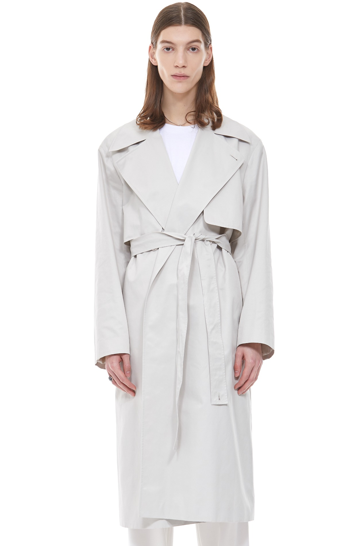 MINIMAL LONG BELTED TRENCH COAT