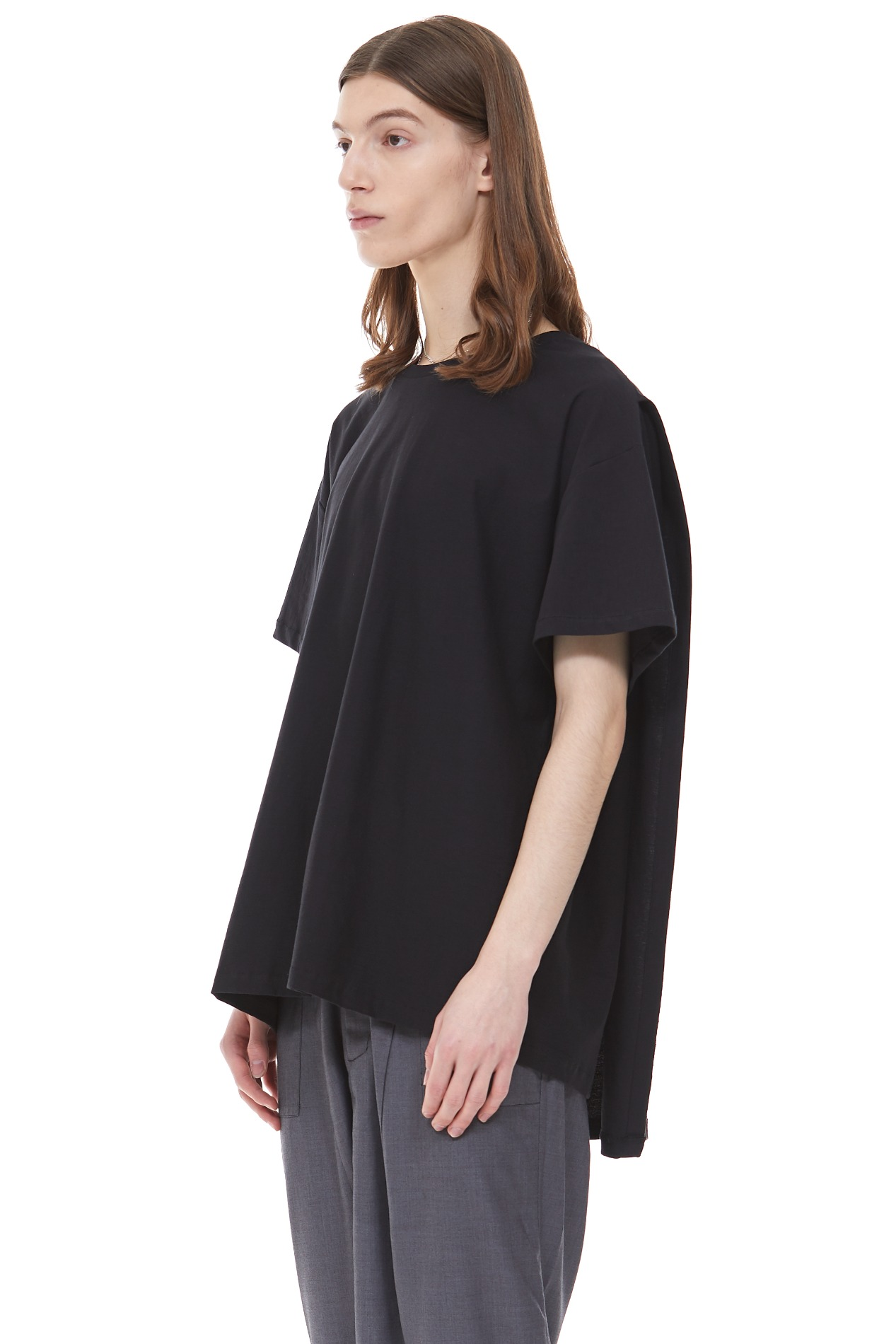 BACK COVERED T-SHIRT(Black)