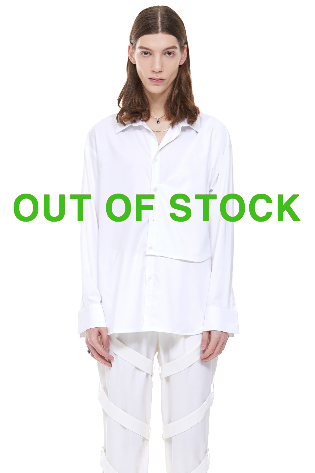 [ATELIER LINE]WRAP SHIRT(White)