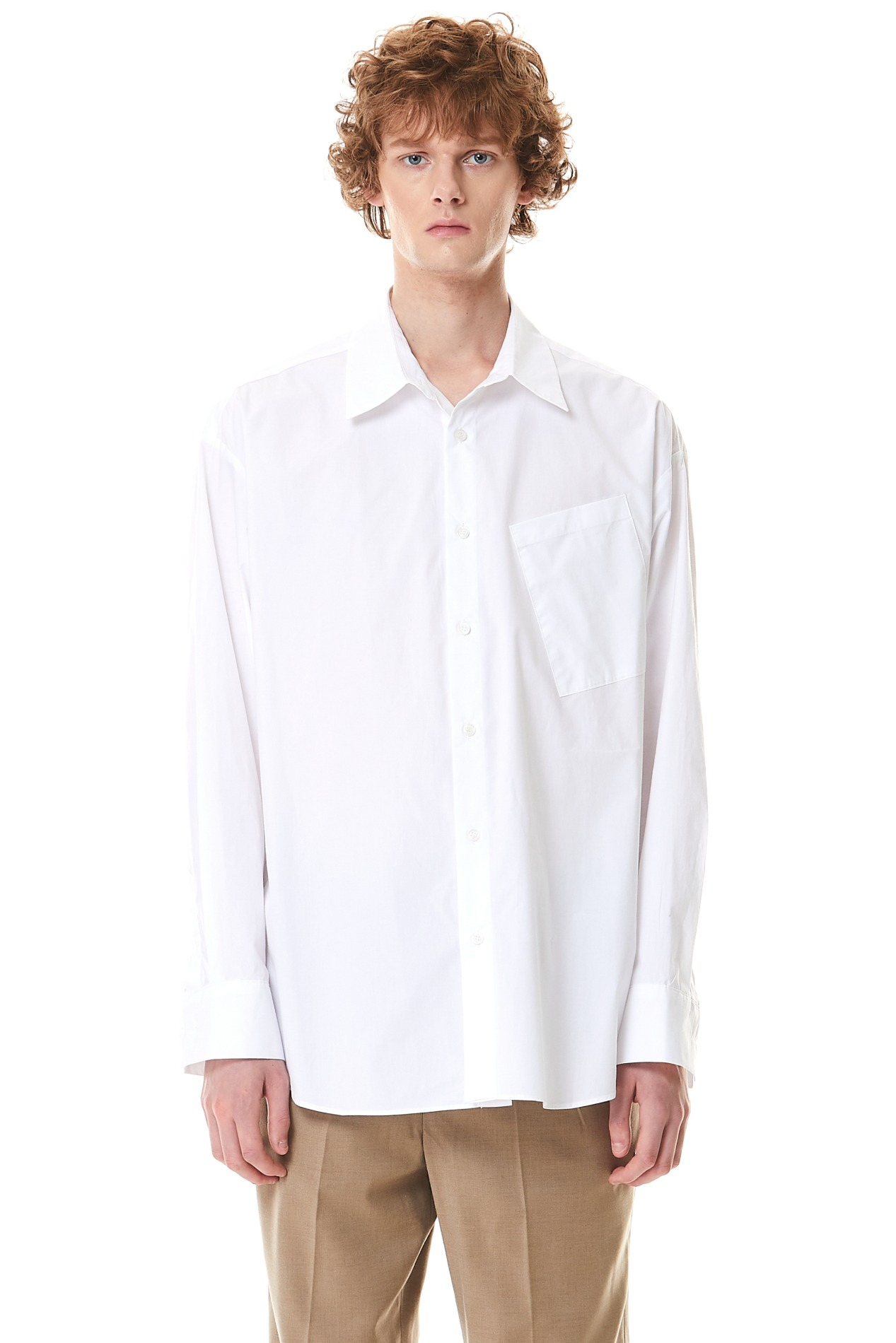 45˚Pocket Over Cotton Shirt